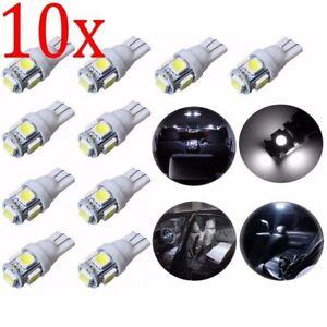 10-Bombillas-T10-5smd-5050-168-194-W5W-Interior-posicion-Blanco-frio
