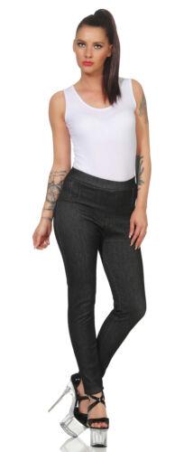 Donna Leggings termici Jeans Pantaloni in pile Jeggings Tubo Skinny Treggings 155