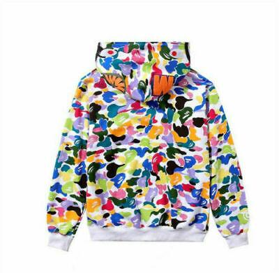 Long Sleeve Jacket Bape Bathing Ape Hoodie SHARK Head Camo Full Zip Coat STOCK