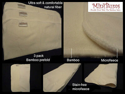 Price Reduced! High Quality MiniBums Bamboo Cloth Diapers:Free Shipping $55+