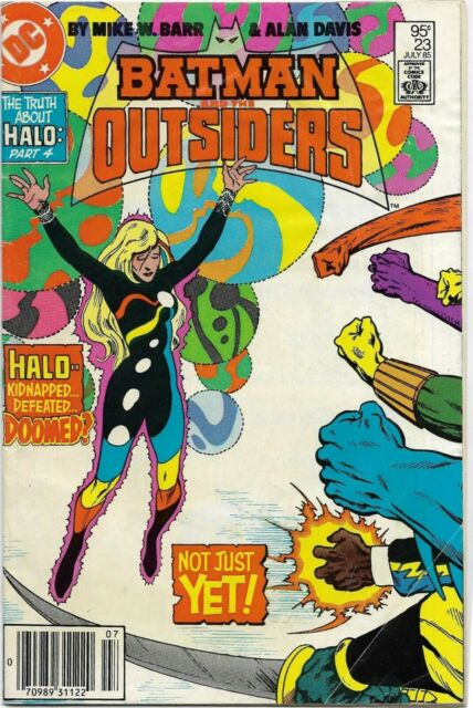 Batman and the Outsiders (1983) #23 - Fine Minus - Truth About Halo