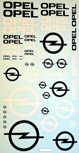 Opel #3 patrocinador emblemas sponsorenbogen 1:24 decal estampados