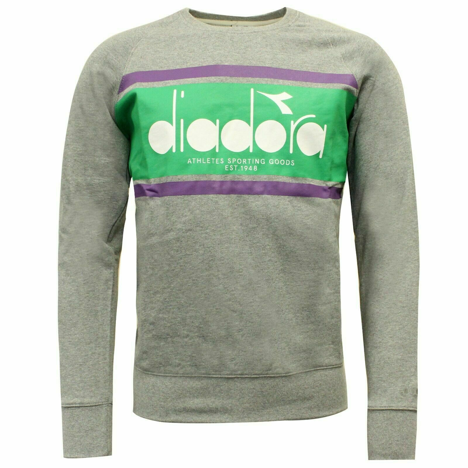Diadora Sportswear Mens Crew Spectra Sweatshirt Jumper 502.173795 C7518 A62B