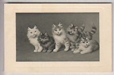 CPA  ANIMAL FANTAISIE -  CHAT CAT ART TABLEAU CHATONS EN GROUPE  1911 ~B65