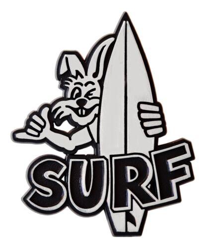Voiture Relief Bouclier 3d Surf Lapin Bord Chrome Autocollant 8 cm Emblem HR Art 47042