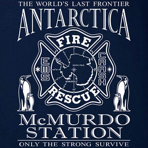 Antarctica-McMurdo-Fire-Department-Penguins-T-shirt-S-to-5XL-Short-Long-Sleeve