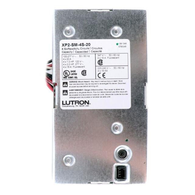 lutron xp-sm-4s xp panel switching module 4 circuit