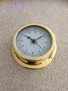 145mm Brass Clock.NEW THIS ITEM IS IN STOCK!