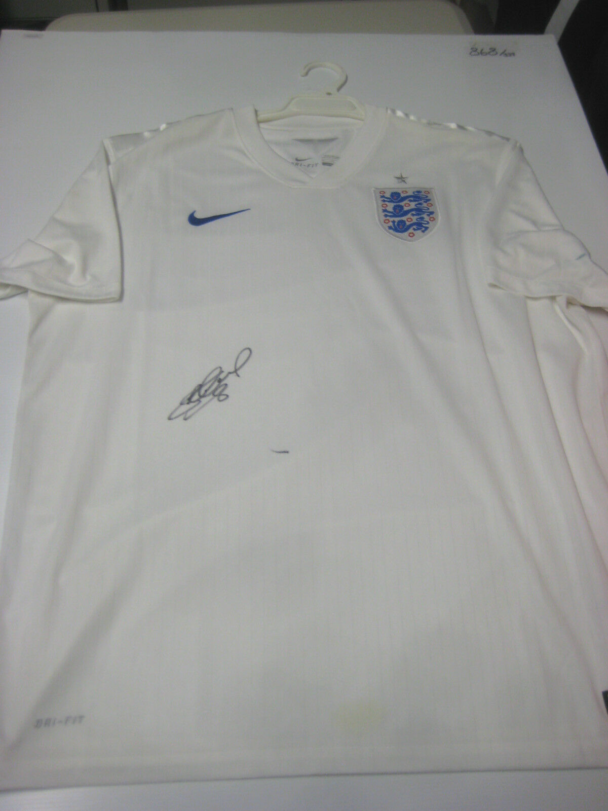 Inglaterra-Steven Gerrard Firmado Inglaterra Camiseta + + prueba fotográfica C.o.a