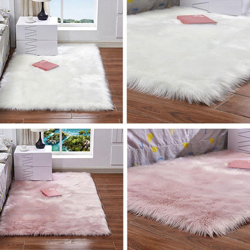 Kunstfell Teppich FellImitat Schaffell Teppich Super weich Bettvorleger Sofa