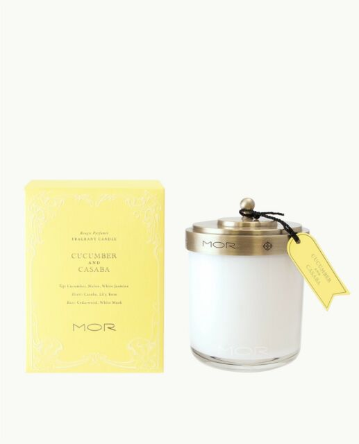 MOR SCENTED HOME LIBRARY Cucumber and Casaba Fragrant Candle 390g-Australian