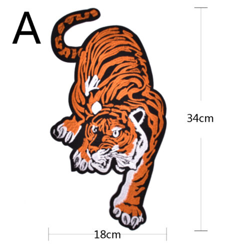 Embroidered clothing big tiger patches for clothes bike patch patchwork  GD xl