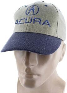 Acura Closure Blue Khaki Baseball Cap Trucker Hat Snapback ILX MDX - Acura hat