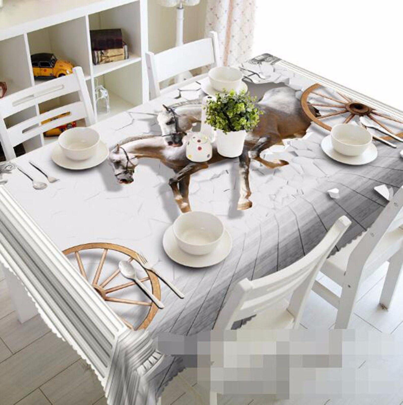3D Cheval 446 Nappe Table Cover Cloth fête d'anniversaire AJ papier peint Royaume-Uni Citron