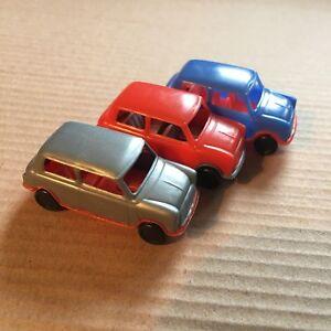 3-schoene-alte-Pez-Autos-Innocenti-Mini-1-72-Auto-Kein-Spender