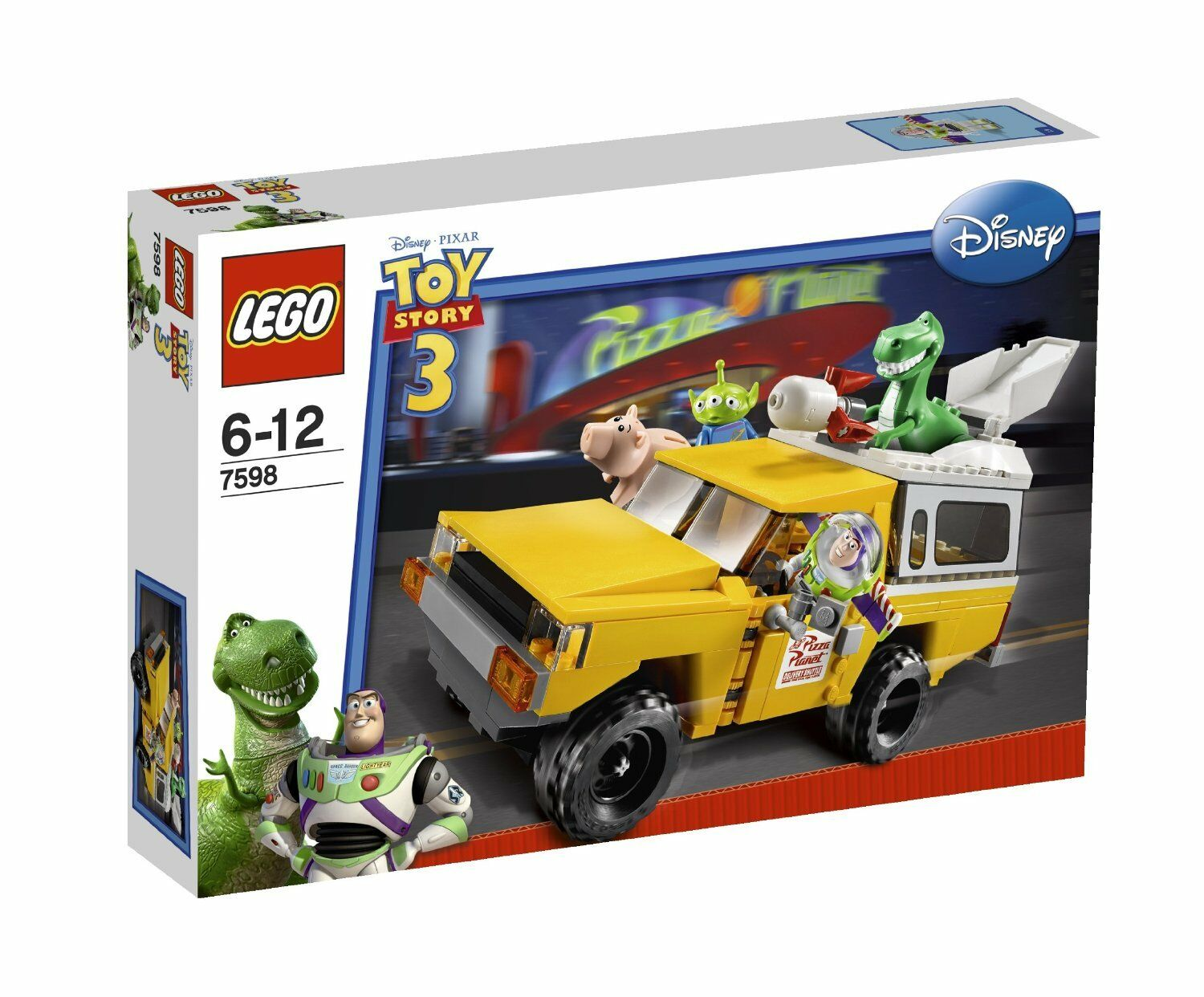 NEW SEALED LEGO TOY STORY 7598 PIZZA PLANET TRUCK RESCUE REX WOODY BUZZ HAMM
