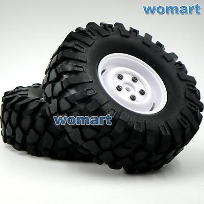 4pcs RC 1//10 108mm 1.9 Tires w// Hex 12mm Wheels Fit RC 4WD Axial Crawler Truck