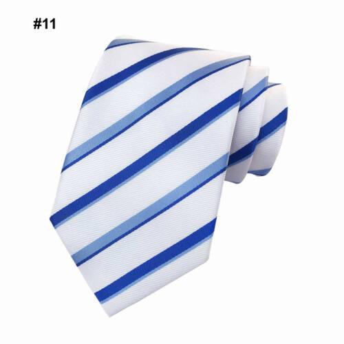 Wedding Men/'s Striped Tie Classic Silk Jacquard Woven Suit Party Unique Necktie