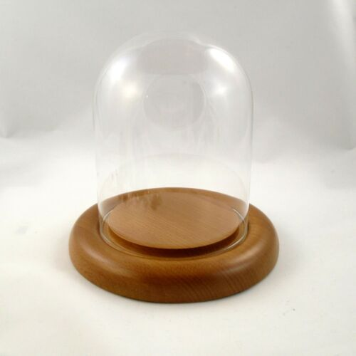 New Oak Base 4.5 x 6 Glass Dome Display Stand Pysanky Stand Egg Stand