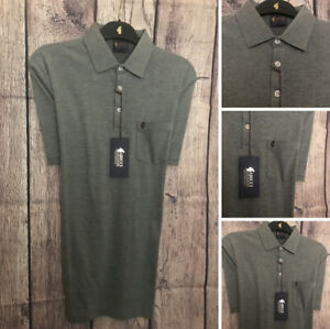 Size Medium Gabicci Patterned Jersey Shirt BNWT New Season Navy Design
