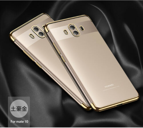For Huawei Mate 10 Pro Luxury Plating Frame Clear Soft Silicone Tpu Case Cover by Unbranded/Generic