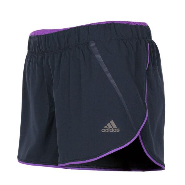 adidas Damen AdiStar Laufhose Running Short Climacool Fitness grau-lila NEU