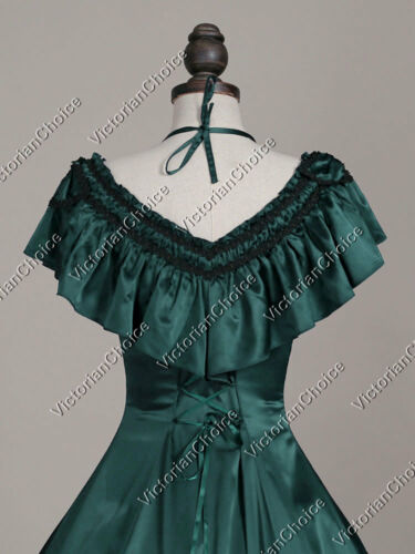 Victorian Wild West Saloon Girl Ball Gown Fancy Dress Halloween Costume 127