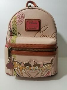 98e39d8a919 Image is loading Disney-Bambi-Faline-Loungefly-Mini-Backpack-Pink-Floral