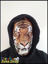 Tiger Full Head Mask Realistic Animal Printed Lycra Funny Fancy Dress