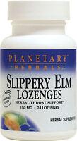 Slippery Elm Lozenges Tangerine Flavor Immunity System Supplement 24 Lozenges