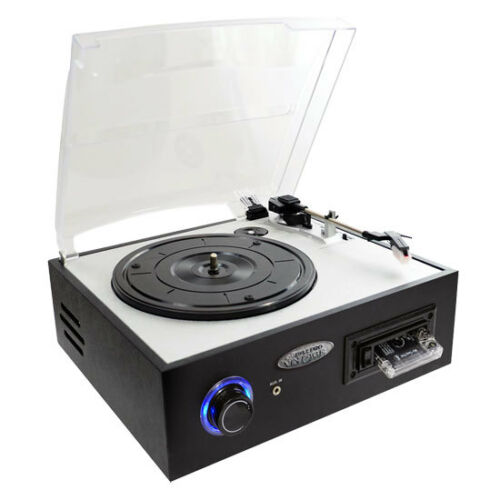 Cassette Playback PTTC4U Multi function Turntable With MP3 Recording USB-to-PC