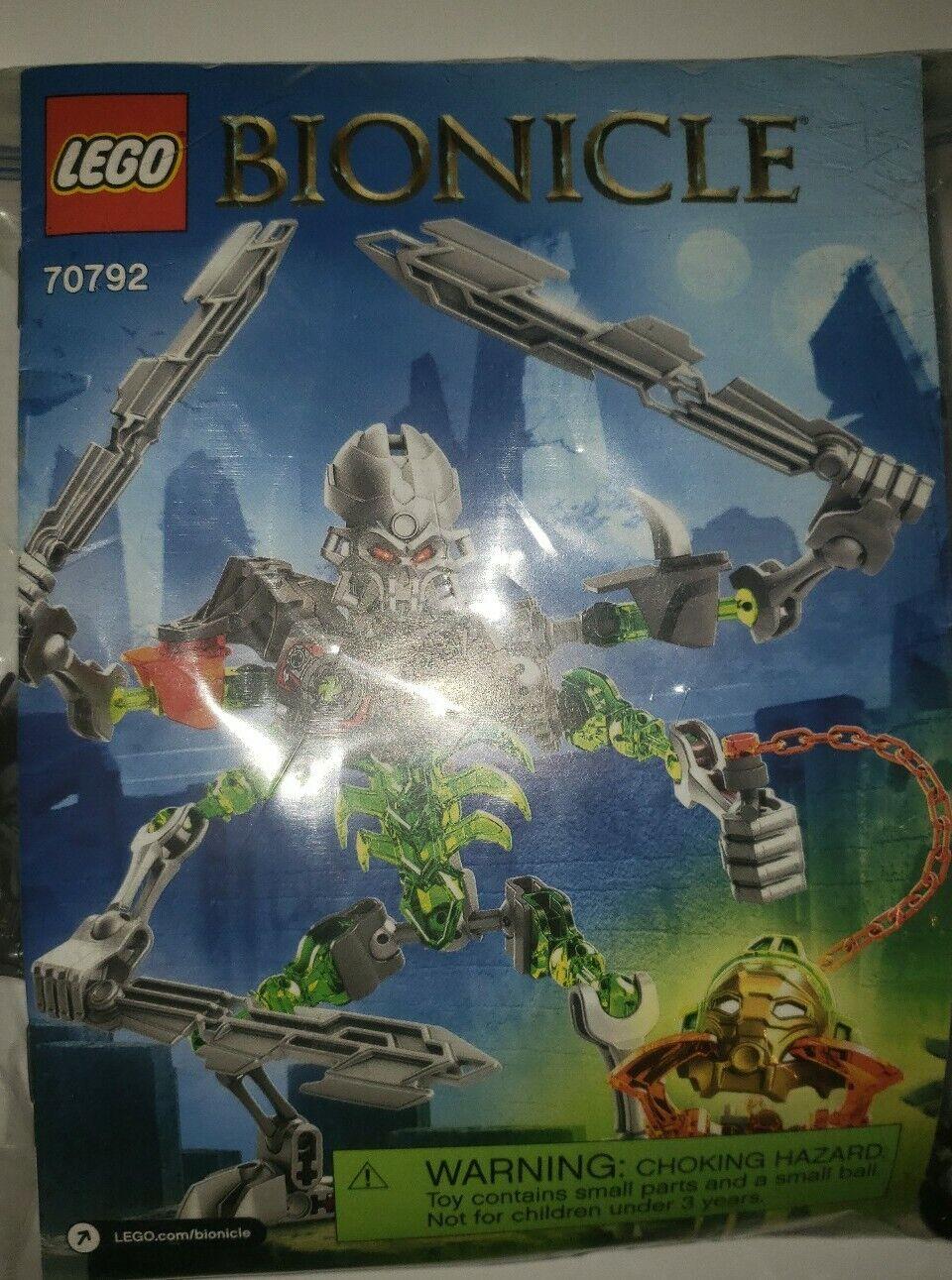 """NEW 2015 Lego Bionicle #70792 SKULL SLICER+Skull Spider Mask 7/"""" Tall Figure 71Pc"""