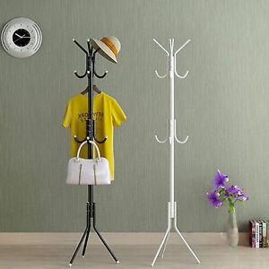 12-HOOKS-COAT-HAT-CLOTHES-UMBRELLA-STAND-METAL-STEEL-VINTAGE-STYLE-HANGER-RACK