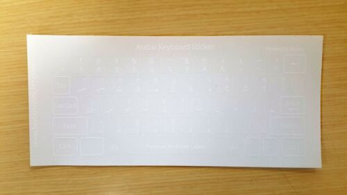 Arabic Keyboard Sticker Transparent white letters Printed in Korea!No.10pcs DEAL