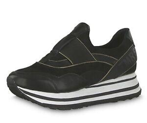 Details zu Tamaris Damen Sneaker Slipper schwarz Größe 36 39 40 24707 Wechselfussbett