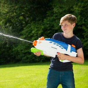 Water Warriors Double Drench Power Pump Action Blaster Soaker Gun Fight Summer F