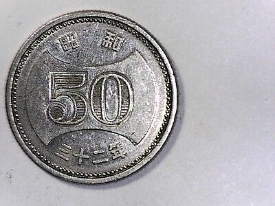 1957 (yr32) 50 Yen Japan Uncirculated Latest Technology