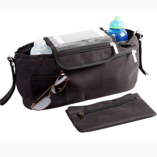 Clips BTR Buggy Organiser Bag Prams /& Detachable Zipped Purse /& 2 x Pram Hooks
