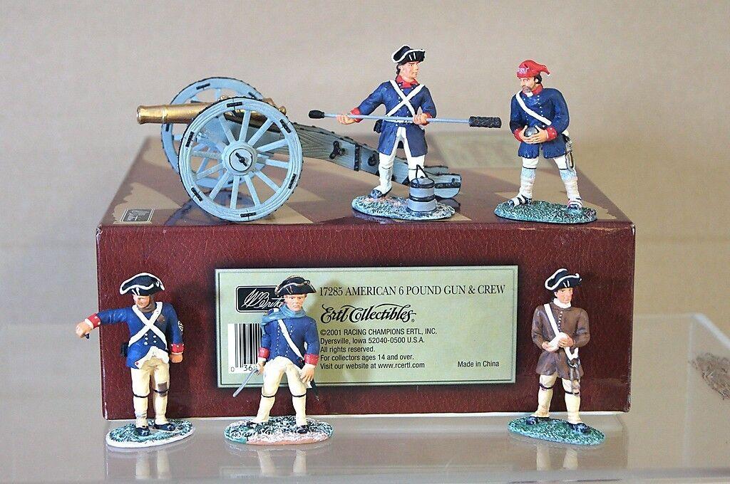 Britains 17285 American Revolution Americano 2.7kg Pistola Cañón & Crew MIB Mi