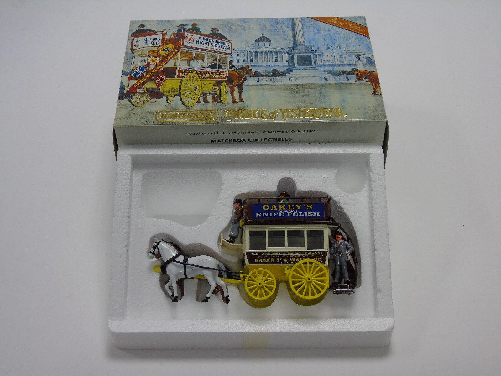 YSH2 Matchbox Models Of Yesteryear Londres Omnibus 1886 Horsedrawn Carosse en