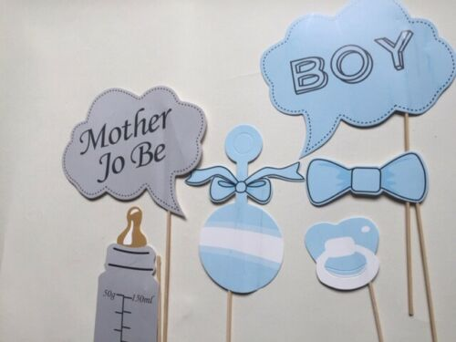 20pc Baby Shower PhotoBooth Props Girl Boy Miss Master New Born Party Decoration