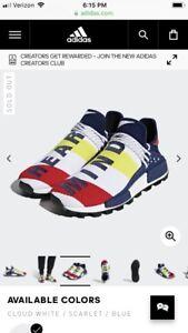 07d7aa24298 Pharrell Williams BBC Hu Nmd Shoes Size 10.5 Men Cloud White ...