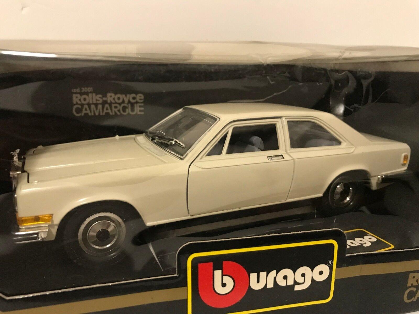 Burago Rolls Royce Camargue Diecast Diecast Diecast Escala 1 22 Nuevo En Caja af7f3c