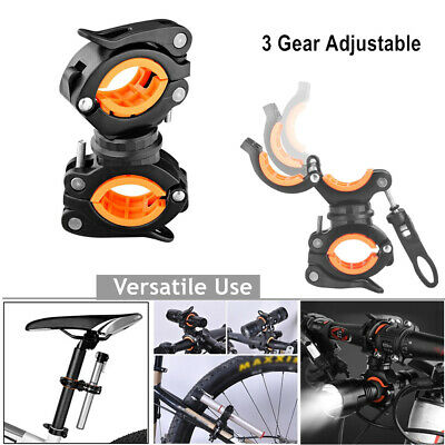 360° Cycling Mount Holder Bracket for Flashlight Torch Clip Clamp handlebar Sale