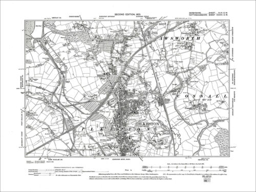 Old Map Derbyshire 1901 Ilkeston 46-SW