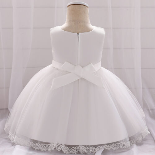 Childrens Kids Baby Girls Cute Spring Beaded Lace Rose Puffy Tutu Dress Gown ZG9