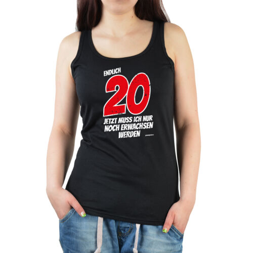 T-Shirt zum 20.Geburtstag für Damen Mädchen Geburtstag 20 Jahre Sprüche 20