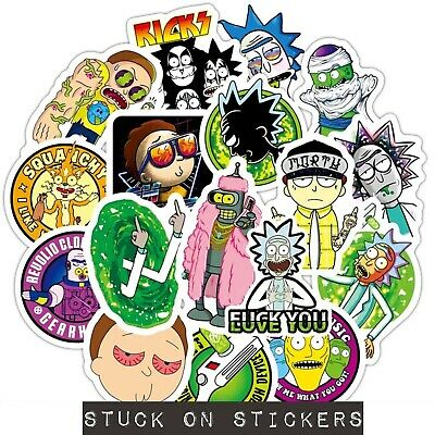 48 pcs Rick and Morty Stickers Mixed Stickerbomb Cartoon Decal Phone Skateboard