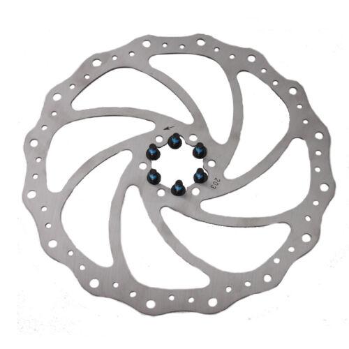 160//203mm Bike Brake Rotor MTB//Road Bicycle Brake Disc 6-bolt For Shimano Sram