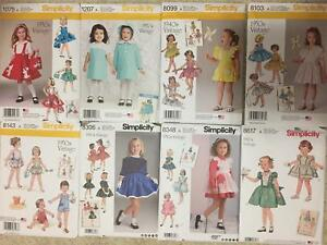 Vintage-Retro-40s-50s-70s-Simplicity-Sewing-Pattern-Little-Girl-New-YOU-PICK